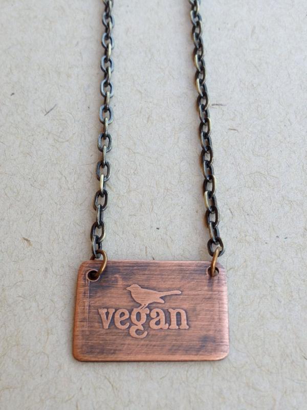Vegan Bird Necklace