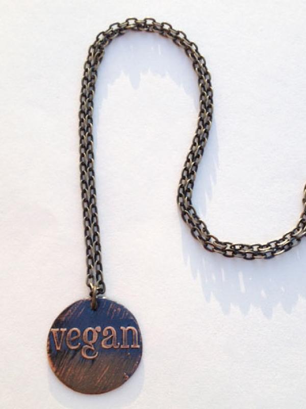 Vegan Round Pendant