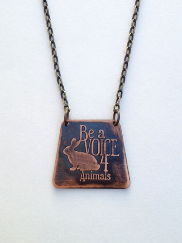 Be a Voice for Animals-Bunny Necklace