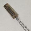 Silver Etched Vegan Necklace-Back