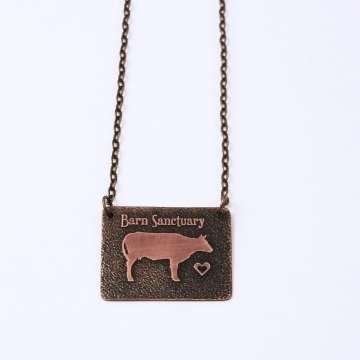 Barn Sanctuary Cow Necklace
