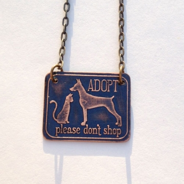 MADE TO ORDER- Adopt Don't Shop! Vegan/Animal Rights Inspired Necklace