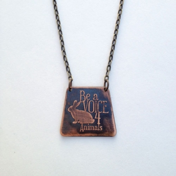 MADE TO ORDER- Be a Voice for Animals-Bunny Necklace
